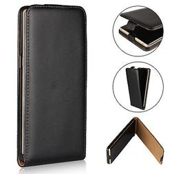 Luxury Slim Leather BLACK Vertical Flip Protective Case Cove
