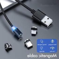 Magnetic <font><b>USB</b></font> Cable Type C <font><b>Braid
