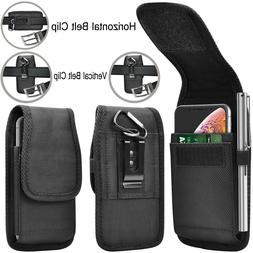 Men Card Wallet Case Horizontal Vertical Nylon Phone Holster