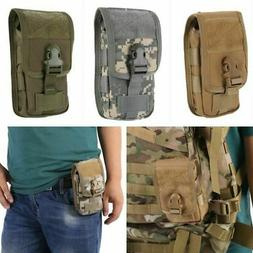 Men Tactical Cell Phone Belt Pack Bag Molle Waist Holster Po