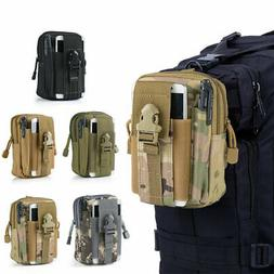 Men Tactical Cell Phone Belt Pack Universal Bag Molle Waist
