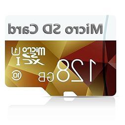 128GB Micro SD SDXC Memory Card High Speed Class 10 with Mic