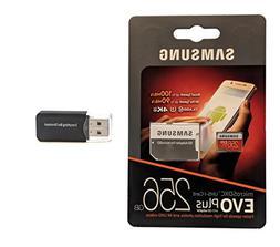 Samsung 256GB Micro SDXC EVO Plus  Bundle Class 10 UHS-1 wor
