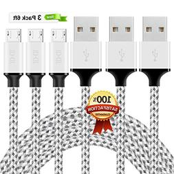Micro USB Cable Android Charger - ZAOX  Super-Durable Nylon-