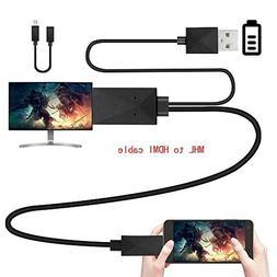 Kinpasy Micro USB MHL to HDMI Adapter 1080P Media HDTV Conve