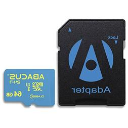Abacus24-7 64GB microSD Memory Card and SD Adapter for ZTE B