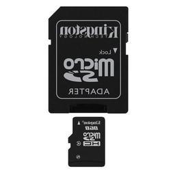 Professional Kingston 8GB MicroSDHC Card for LAVA KKT 24 Sma
