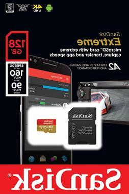 SanDisk Extreme 128GB microSDXC UHS-3 Card - SDSQXAF-128G-GN