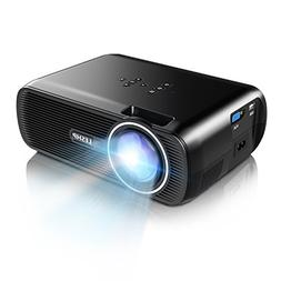 1500 Lumens LCD Mini Projector,LESHP LED Video Projector Hom