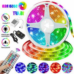16FT RGB 5050 Waterproof LED Strip light SMD 44 Key Remote 1