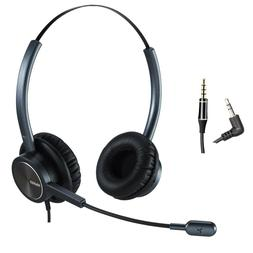 MAIRDI Mobile Phone Headset with Nosie Cancelling Mic 2.5mm
