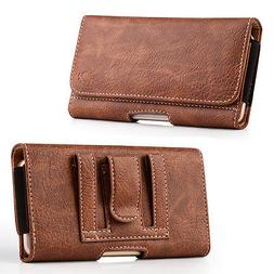 For Mobile Phones PU Leather Cover Wallet Pouch Waist Belt C