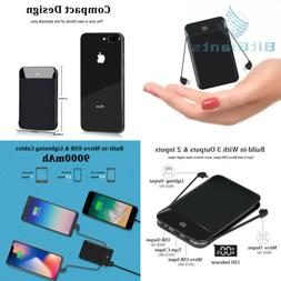 Mobile Powerbank 9000mAh Ultra Slim Quick Charge Portable Ph