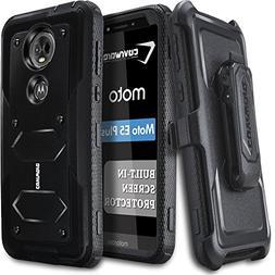 Moto E5 Plus / E5 Supra Case, COVRWARE  Case with Built-in