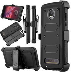 Venoro Moto Z2 Force Case, Moto Z2 Play Case, Heavy Duty Sho