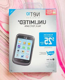 Net10 LG 306G 3.2 Touchscreen 3G 2mg Camera Pre Paid No Cont