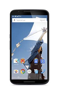 """Motorola Nexus 6 GSM Unlocked Smartphone, 64GB, 6"""" Screen, D"""