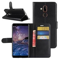 Nokia 7 Plus Case, Fettion Premium PU Leather Wallet Flip Ph