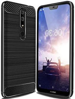 Nokia X6 2018 Case, Nokia 6.1 Plus Case,Sucnakp TPU Shock Ab