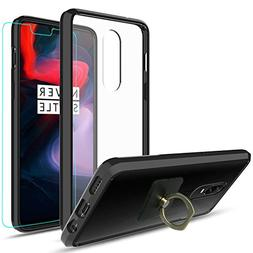 OnePlus 6 Clear Case With HD Screen Protector+Phone Stand,Ym