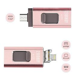 OTG USB Flash Drive for iPhone 32GB with Android Cell Phone,