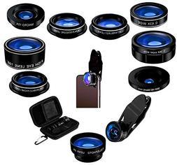 5StarPrime Phone Camera Lens Kit - 9 in 1 Macro Zoom, Super