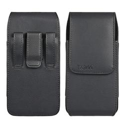 Phones Leather Vertical Case Pouch Belt Clip Loop Holster XL