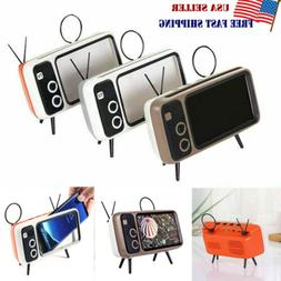 Portable Retro Mini Bluetooth Speaker TV Design Mobile Phone