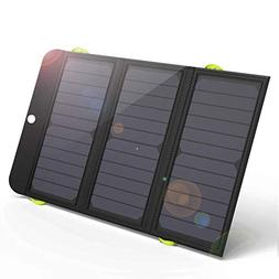 GIARIDE 21W Portable Solar Charger 4 USB Port Quick Charge 8