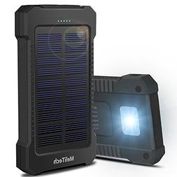 MeliTech Portable Solar Charger Waterproof Mobile Power Bank