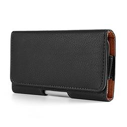 "5"" PU Leather Texture Holster Belt Clip Wallet Case for Sams"