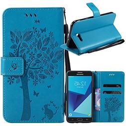 Linkertech   PU Leather Wallet Flip Case Cover For Galaxy J3
