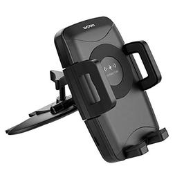 Mpow Qi Fast Wireless CD Slot Phone Mount, Auto Charging Pow