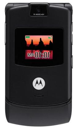 Motorola RAZR V3 Black Phone