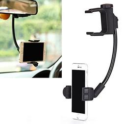 Premium Rear View Mirror Car Mount Holder Stand Cradle Dock