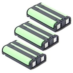 Masione 3 Pack Rechargeable Cordless Phone Battery for Panas