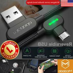 MCDODO Right Angle 90° Micro USB LED Fast Charging Sync Dat