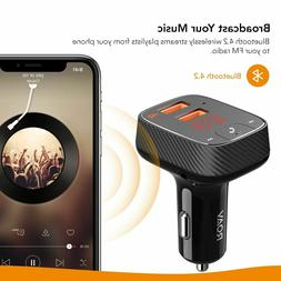 Anker Roav SmartCharge Car Kit F2, Wireless In-Car FM Transm