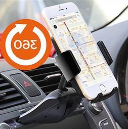 Agoz 360° Rotating Car CD Slot Mount Holder for Motorola Mo