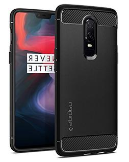 Spigen Rugged Armor OnePlus 6 Case with Flexible and Durable