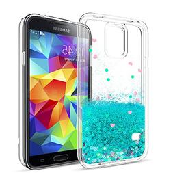 LeYi Galaxy S5 Case with Tempered Glass Screen Protector  fo