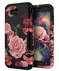 TIANLI Samsung Galaxy J7 2017 Case Cute Flowers for Girls/Wo