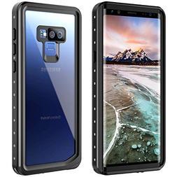 Samsung Galaxy Note 9 Waterproof Case, Snowfox Built-in Scre