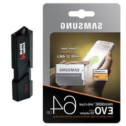 Samsung 64GB MicroSD XC Class 10 UHS-3 Mobile Memory Card fo