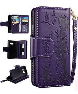 Samsung S8 Plus Case,Galaxy S8 Plus Wallet Case, FLYEE 9 Car