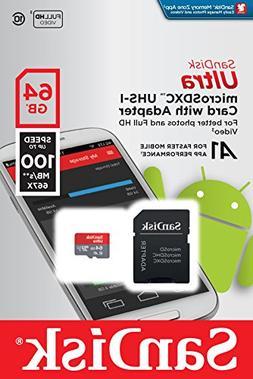 SanDisk Ultra A1 64GB MicroSD XC Class 10 UHS-1 Mobile Memor