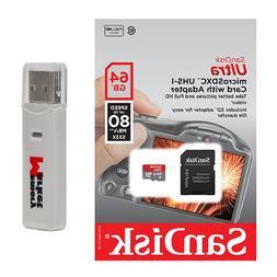 Samsung 64GB MicroSD XC Class 10 UHS-3 Mobile Memory Card for Motorola Moto M G4 G5 G5S Plus Z2 Z Force Play with USB 3.0 MemoryMarket Dual Slot MicroSD /& SD Memory Card Reader