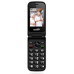YINGTAI 3G Senior Flip Cell Phone with Double Screen, Unlock