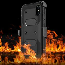 Shockproof Hybrid Hard Phone Case W/ Stand Holster Belt Clip