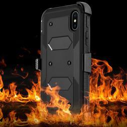 Shockproof Hybrid Hard Phone Case W/ Stand Holster Belt Clip